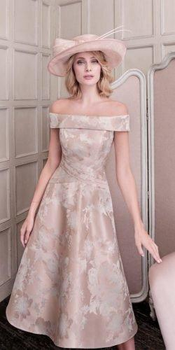 mother of the bride dresses knee length off the shoulder summer lynch fashions banagher