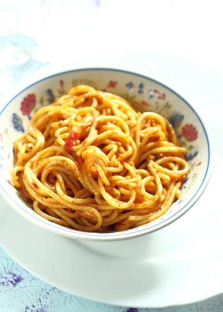 Indian Style Tomato Spaghetti Noodles Pasta | No Sauce | One Pot Meal Idea
