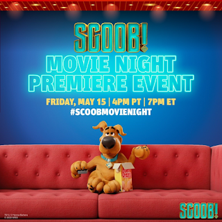SCOOB! Is Coming to Your Home This Friday, May 15th, with a Movie Night Premiere Event!