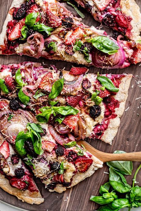 Gluten-Free Vegan Pizza with Mushrooms & Onions
