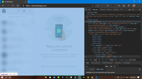 How to Try Original Dark Theme for WhatsApp for Web (Quick Workaround)