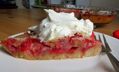 Strawberry Cake Pie