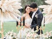 Elegant Wedding Ideas with Pampas Grass Chic Black Details
