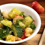 Smashed Cucumber and Apple Salad