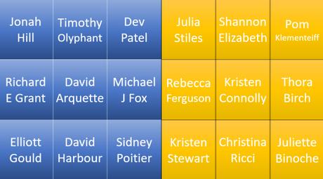 Film Bingo 21 – 25