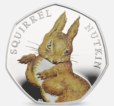 2016 UK Coin 50p Silver Proof Coloured Beatrix Potter - Squirrel ...