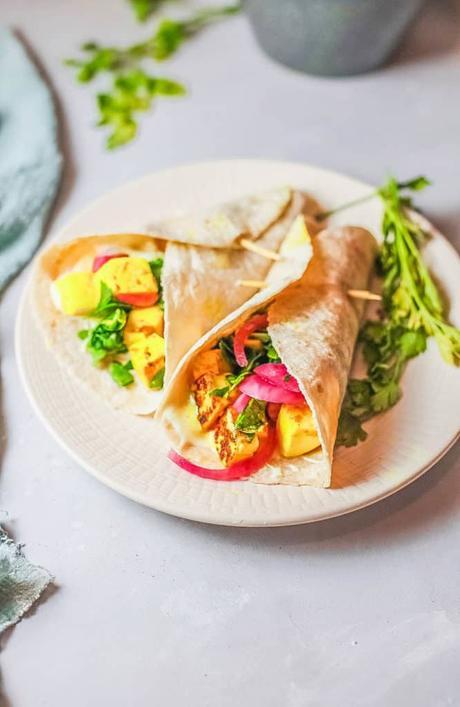 Veggie Shawarma with Marinated Tofu