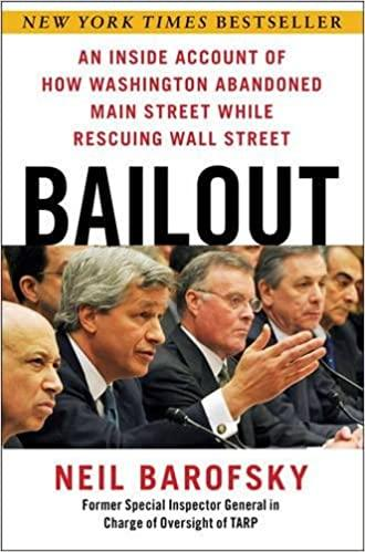 Bailout: An Inside Account of How Washington Abandoned Main Street ...