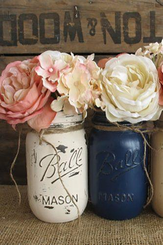 mason jars wedding centerpieces rusticglamdesigns etsy
