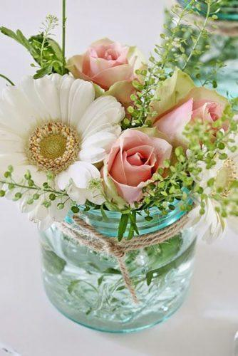mason jars wedding centerpieces simple and gentle decor paperlanternstore