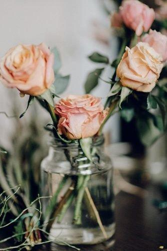 mason jars wedding centerpieces decor with roses