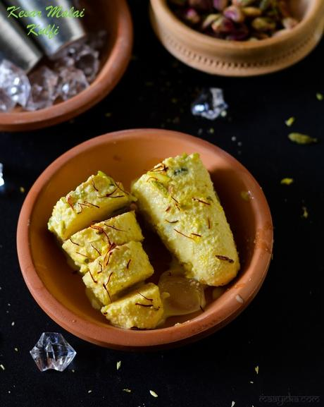 Malai Kulfi Recipe, How To Make Kesar Pista Malai Kulfi