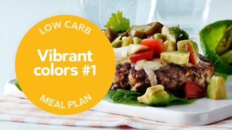 New low-carb meal plan: Vibrant colors