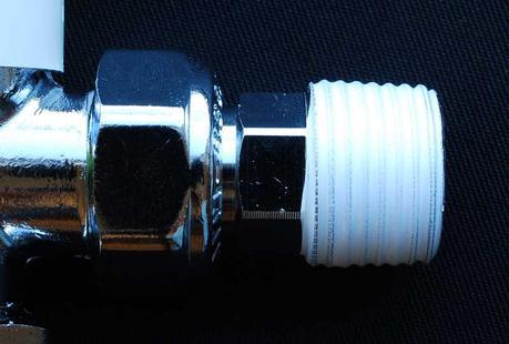 radiator valve with PTFE tape