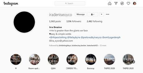 Ira's Instagram account