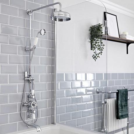 Milano Elizabeth heated towel rail in a bathroom