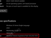 What's Windows Feature Experience Pack Version 2004