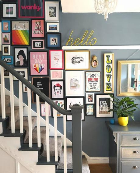 Colourful art collection