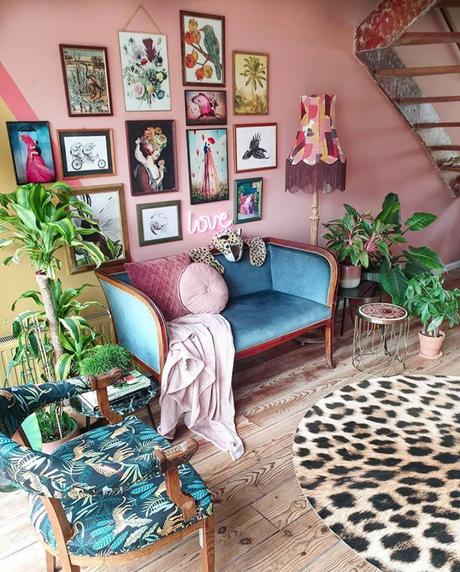 Eclectic decor with quirky prints