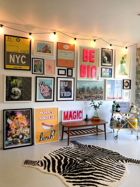 Bold and colourful wall art