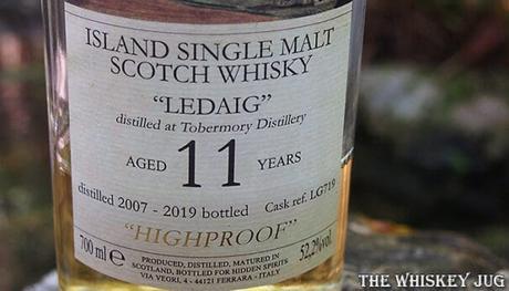 2007 Hidden Spirits Ledaig 11 Years Front Label