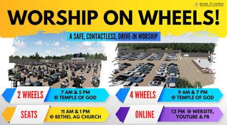 The best place to worship - On wheels of course!