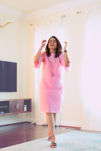 bhaane pink dress tanvii.com