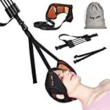 Image: Neck Head Hammock, Cosy Life Breathable Velvet Cervical Neck Traction Device, Neck Stretcher with Adjustable Straps and Durable Reinforced Elastic Cord for Helping Neck Back Pain Relief (Brown)