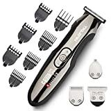 Image: Tiklean Men Electric Beard Trimmer Hair Clipper Grooming Kit Shaver Razor for Beard, Mustache, Head, Body, and Face Cordless Precision Waterproof Groomer USB Charging Rechargeable 4 In 1
