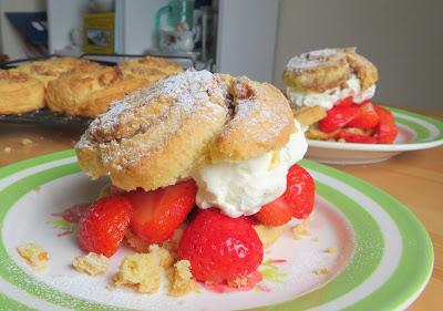 Pecan Swirl Strawberry Shortcakes