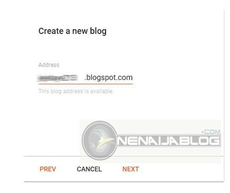 Blogger blog creation