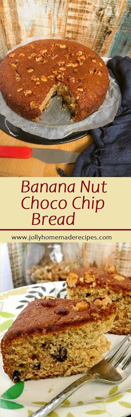 Banana Walnut Chocolate Chip Bread