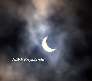 Sun eclipse in Ranchi city on 21st June 2020.
