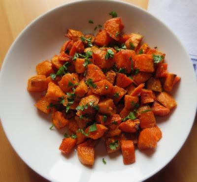 Roasted Sweet Potato Salad with Lime & Honey