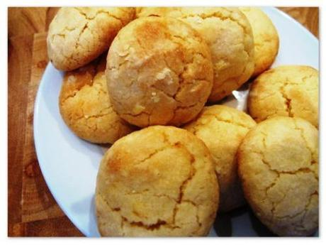 lemon cookies on a plate