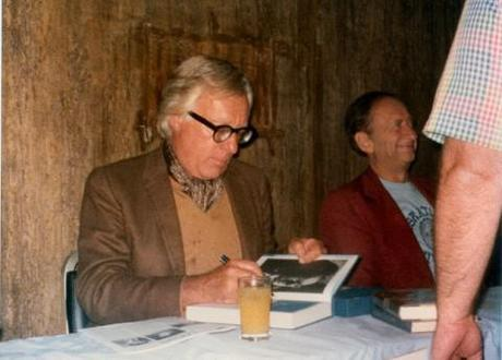 Ray Bradbury, the author, at a signing in 1977
