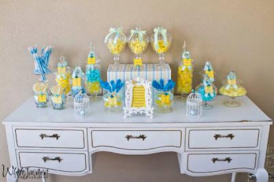 Lemon And Blue Baby Shower By Your Unique Party