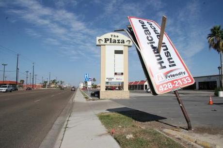 Impaled Hurricane Insurance Billboard
