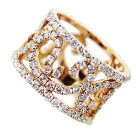 Rose Gold Diamond RIng, rose gold ring, rose gold, pink gold, pink
