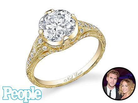 Miley Cyrus Engagement ring, miley engagement ring, miley cyrus liam hemsworth engaged