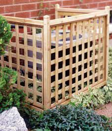 Easy-to-build lattice screen