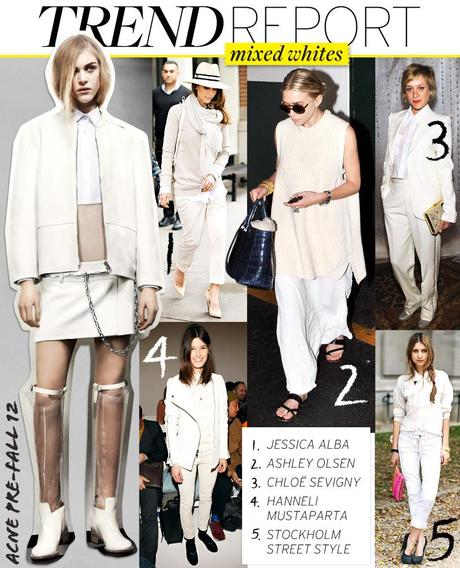 whitesmixA New Fashion Trend: A Different Take on White