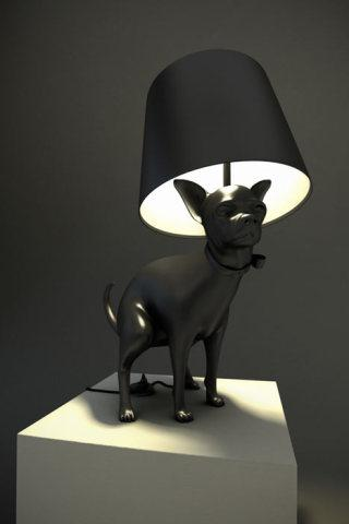 Pooping Puppy Lamp