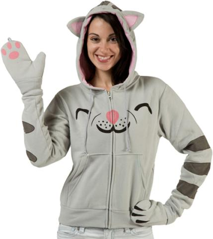 Hello Kitty Jacket With Ears Theory's soft kitty hoodie