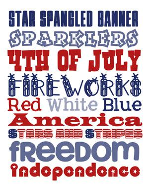 FPF: Fourth of July Subway Art
