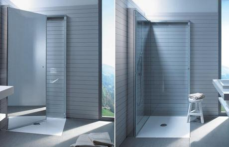The shower for small bathrooms