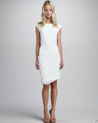 Alice + Olivia Drape Skirt Dress $398 wedding rehearsal dress destination wedding dress reception the laws of fashion mn stylist personal shopper minnesota