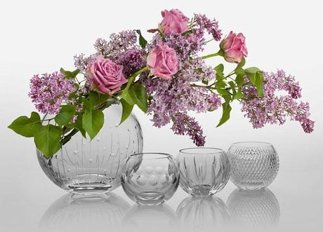 Wedding vases and votives from Cumbria Crystal (1)