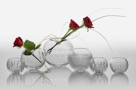 Wedding vases and votives from Cumbria Crystal (2)