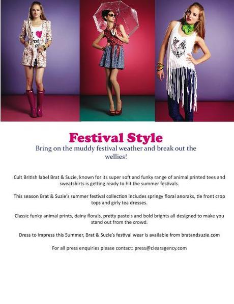 Brat & Suzie's Summer Festival Campaign!